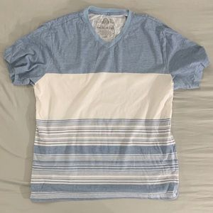 Light Blue and Cream L Shirt